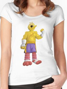 Sesame Street Fighter: Big Bagat Women's Fitted Scoop T-Shirt
