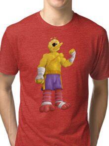 Sesame Street Fighter: Big Bagat Tri-blend T-Shirt