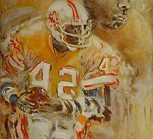 Ricky Bell, Tampa Bay Bucs by Faith Coddington Krucina