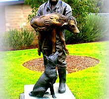 """Bronze Statue """"New Life"""" Learning from the Past, Looking to the future. by EdsMum"""
