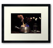 Chocolate Fondue Framed Print