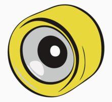 Roller Skate Wheel Yellow by LudlumDesign