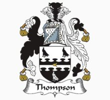 Coat of arms (family crest) for last-name or surname Thompson I . Heraldry banner for your name. Kids Clothes