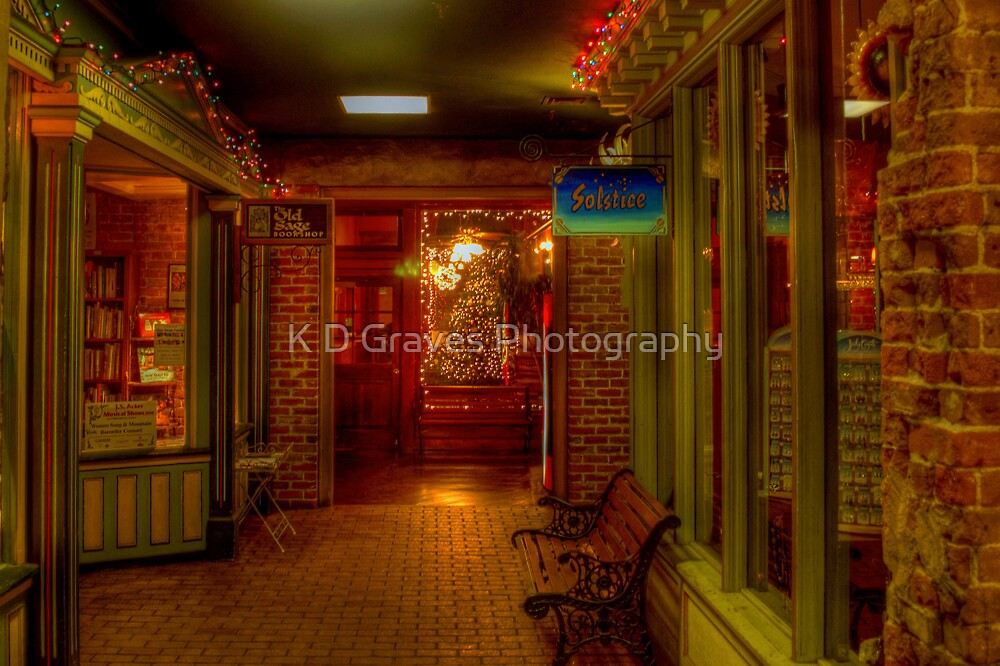 Old Fashioned Christmas Shopping  by Diana Graves Photography
