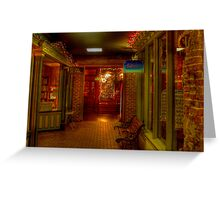 Old Fashioned Christmas Shopping  Greeting Card