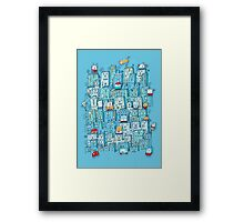 Little Robot City Framed Print