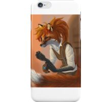 Sewing Fox with Ponytail iPhone Case/Skin