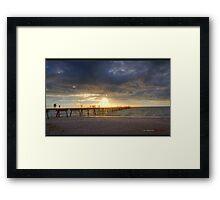 Glenelg Beach HDR Framed Print