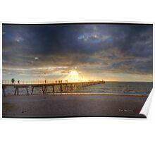 Glenelg Beach HDR Poster