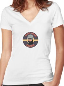 Your move. Creep. Robocop Women's Fitted V-Neck T-Shirt