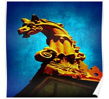 Gargoyle atop a Williamstown roof Poster