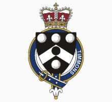 Coat of arms (family crest) for last-name or surname Timmons or Timmins (England) . Heraldry banner for your name. Kids Clothes