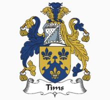 Coat of arms (family crest) for last-name or surname Tims . Heraldry banner for your name. Kids Clothes