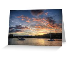 Sunset Blessings - Newport, Sydney - The HDR Experience Greeting Card