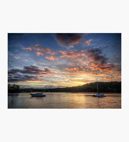 Sunset Blessings - Newport, Sydney - The HDR Experience Photographic Print