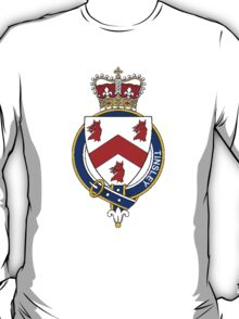 Coat of arms (family crest) for last-name or surname Tinsley (England) . Heraldry banner for your name. T-Shirt
