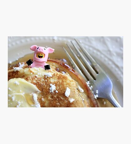 Pig In A Blanket Photographic Print