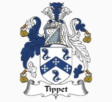Coat of arms (family crest) for last-name or surname Tippet (s) . Heraldry banner for your name. Kids Clothes
