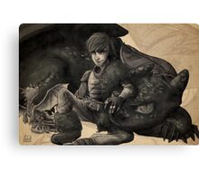 Dragon Trainer - Hiccup Canvas Print