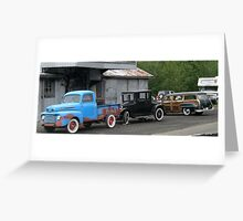 3 Generations of Motor Vehicles. Greeting Card