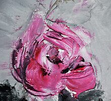 Red Rose from Roses in black vase by Stella  Shube As