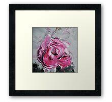 Red Rose from Roses in black vase Framed Print
