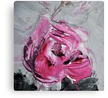 Red Rose from Roses in black vase Canvas Print