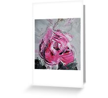 Red Rose from Roses in black vase Greeting Card