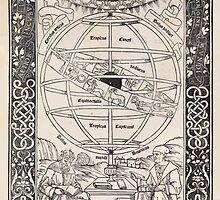 Epytoma Ioannis de Monte Regio in Almagestum Ptolomei Joannes Regiomontanus Astronomy 1496 Opening Plate Astronomy Illustration by wetdryvac