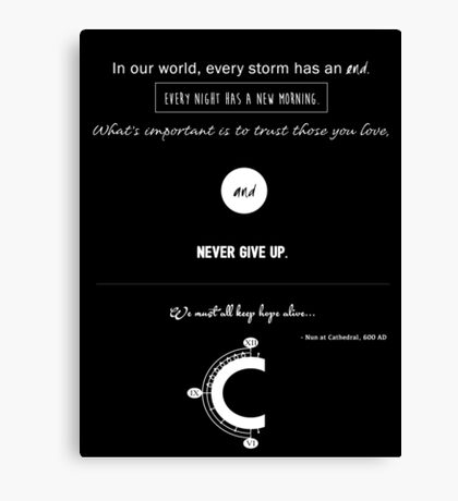Chrono Trigger : We Must Keep Hope Alive Canvas Print