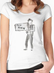 Subterranean Homesick Blues Women's Fitted Scoop T-Shirt
