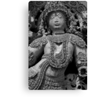 Sculpture, Halebid, India Canvas Print