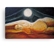 Uranos + Gaia ( and the sky  lay down to the earth )  Canvas Print