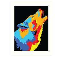 Popart Wolf  Art Print