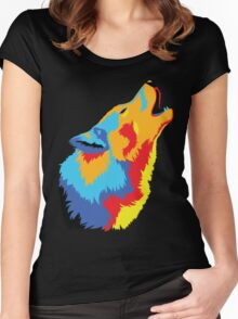 Popart Wolf  Women's Fitted Scoop T-Shirt