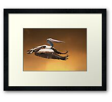 Crossing a Golden Sky Framed Print