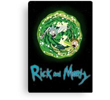 Rick and Morty poster Canvas Print