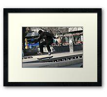 streetside. carlton, melbourne.  Framed Print