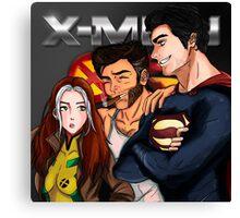Rogue, Wolverine & Superman Canvas Print