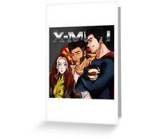 Rogue, Wolverine & Superman Greeting Card