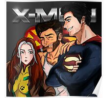 Rogue, Wolverine & Superman Poster