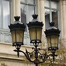 handsome street lamps on Ile de la Cite, Paris by BronReid