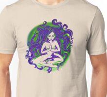 Sitting Space Nature Girl Unisex T-Shirt