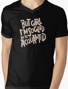Acquainted Mens V-Neck T-Shirt