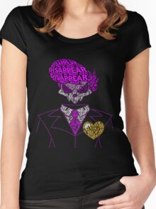 Mystery Skulls Typography Women's Fitted Scoop T-Shirt