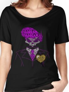 Mystery Skulls Typography Women's Relaxed Fit T-Shirt