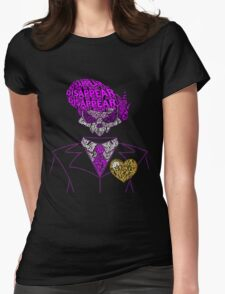Mystery Skulls Typography Womens Fitted T-Shirt