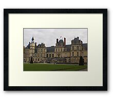 Chateau de Fontainebleau main entrance stairs Framed Print