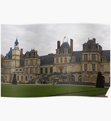 Chateau de Fontainebleau main entrance stairs Poster
