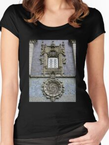 Portugese Late Gothic Style Facade Women's Fitted Scoop T-Shirt